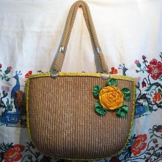 Соломенная женская сумка (сумочка)