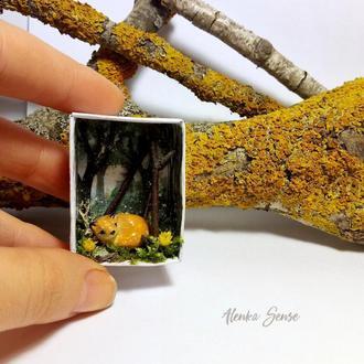 Миниатюра лиса ′Айлис′ мини фигурка лисенок тотем декор подарок