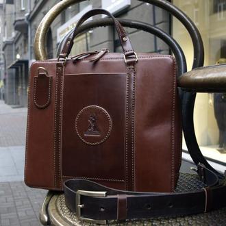 Мужская кожаная офисная сумка