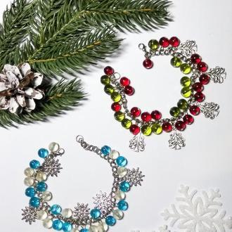 Новорічний зимовий браслет