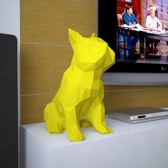 Наборы для создания 3д фигур Оригами Паперкрафт Бумажная модель Papercraft ФРАНЦУЗКИЙ БУЛЬДОГ