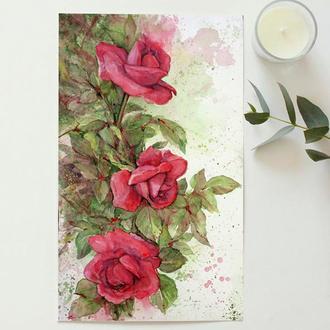 Картина акварель ′Розар′ живопись