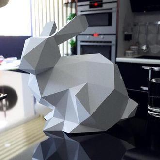 Наборы для создания 3д фигур Оригами Паперкрафт Бумажная модель Papercraft Кролик