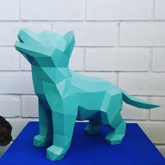 Наборы для создания 3д фигур Оригами Паперкрафт Бумажная модель Papercraft Хаски