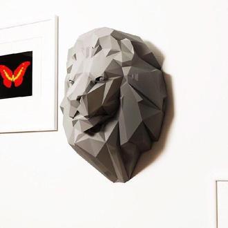Наборы для создания 3д фигур Оригами Паперкрафт Бумажная модель Papercraft Лев