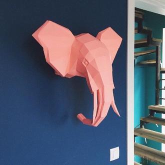 Наборы для создания 3д фигур Оригами Паперкрафт Бумажная модель Papercraft Слон