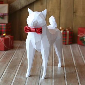 Наборы для создания 3д фигур Оригами Паперкрафт Бумажная модель Papercraft Собакен