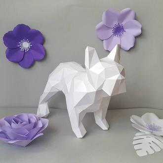 Наборы для создания 3д фигур Оригами Паперкрафт Бумажная модель Papercraft Бульдог