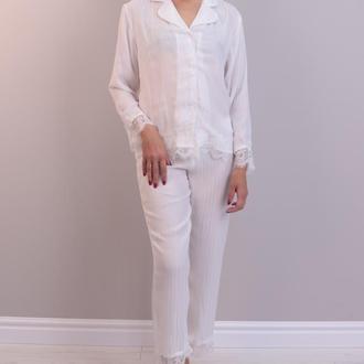Пижама из салона с кружевом