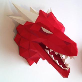 Наборы для создания 3д фигур Оригами Паперкрафт Бумажная модель Papercraft Дракон