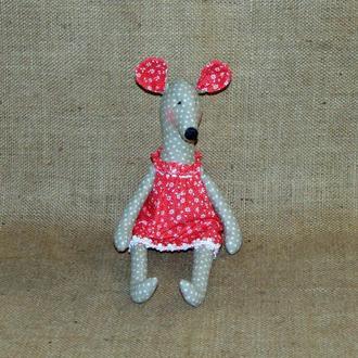 Декоративная мышь-крыса Лариса - интерьерная игрушка тильда