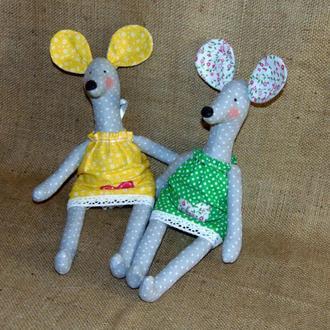 Декоративная мышка-крыса - интерьерная игрушка тильда