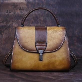 Кожаная сумочка Testoni