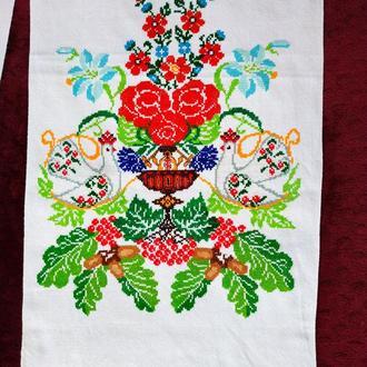 Вышитый свадебный рушник, весільний вишитий рушник