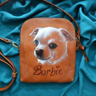"""Кожаная сумка """"БАРБИ"""""""