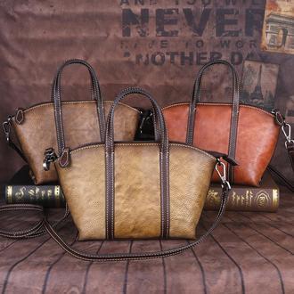 Нужная и вместительная сумочка из натуральной и высокосортной кожи ArtTravel