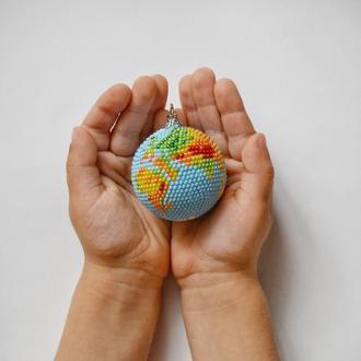Мини глобус Планета Земля Украшение на елку Подарок учителю