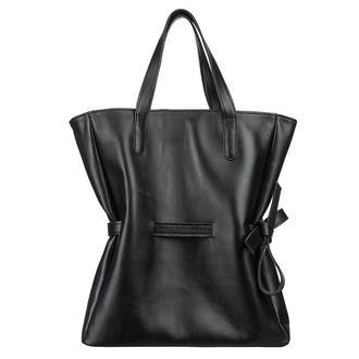 Черная большая женская кожаная сумка