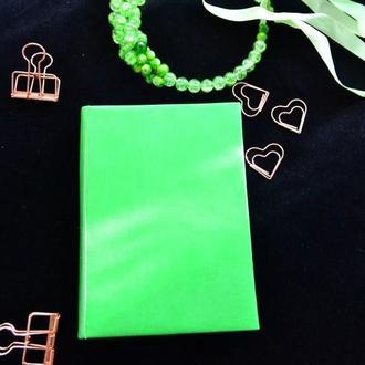 блокнот карманный зеленый