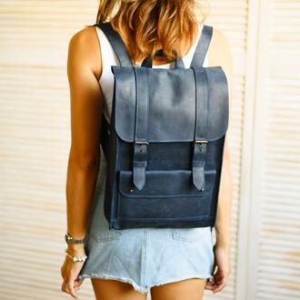 Стильный городской рюкзак из натуральной кожи (арт.510)