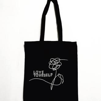 Эко сумка шоппер «Люби себя»