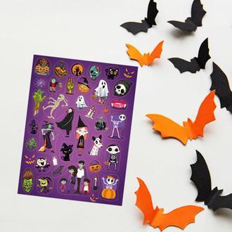 "Большой лист наклеек ""Монстрики Хеллоуин""."