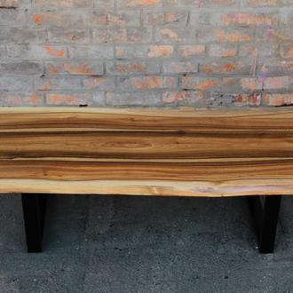 Стол лакированный журнальный обеденный с металлическими ногами из дерева ореха сосны дуба в офис