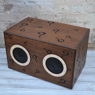 """Деревянная коробка, игра """"Угадай, что внутри"""", настольная игра, Тактильная игра """"Пощупай и Угадай"""""""