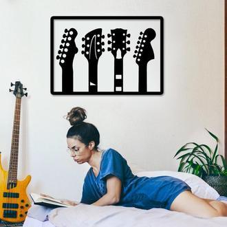 Деревянная картина Love music