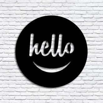 """Деревянная картина """"Hello"""""""