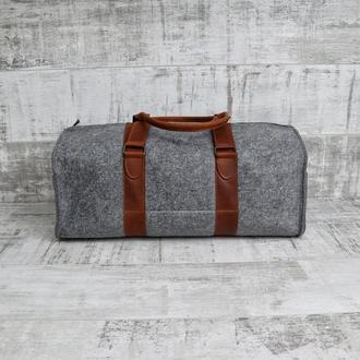 Войлочная дорожная сумка Tube v2 коньяк