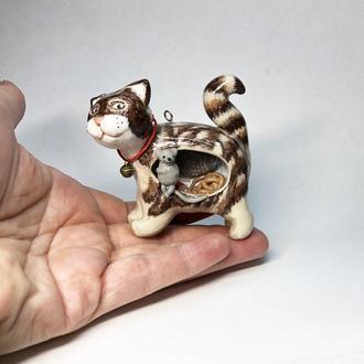 Статуэтка-подвеска Толстый Сытый кот