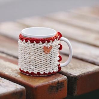 Свитер-грелка для чашки