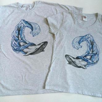 Парные футболки Киты
