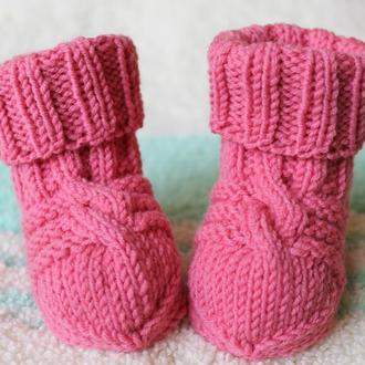 Шерстяные носочки из овечьей шерсти