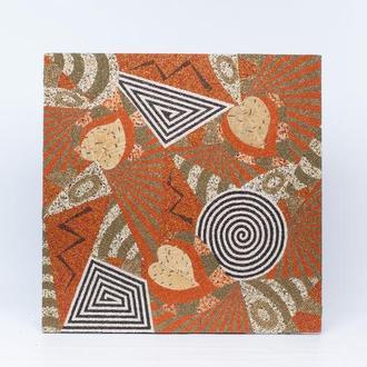 Абстракция с листьями Картина из искусственных камней Мозаика