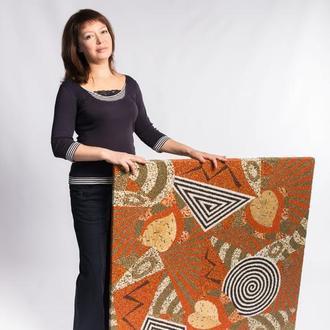 Абстракція з листям Картина з штучних каменів Мозаїка