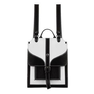 Женский кожаный черный белый рюкзак