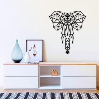 Деревянная картина Wood Elephant