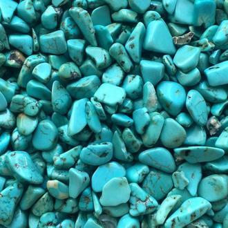 Натуральный камень крошка Бирюза 3-6 мм 10 гр