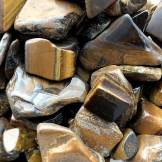 Натуральный камень крошка Тигровый Глаз 10-25 мм 20 грамм