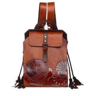 Женский коричневый кожаный рюкзак