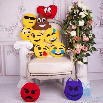 Подушки-смайлики Emoji коллекция из 10 штук
