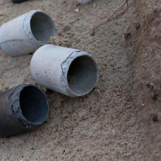 кашпо-органайзер циліндр з бетону