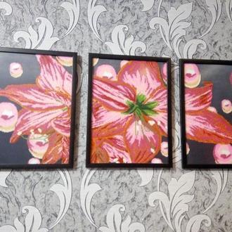 Картина триптих лилия