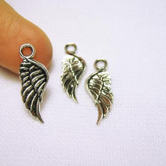 Подвеска металлическая крылышко ангела для украшений