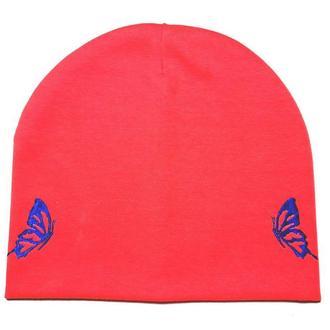 """Детская демисезонная шапка с вышивкой """"Coral"""""""