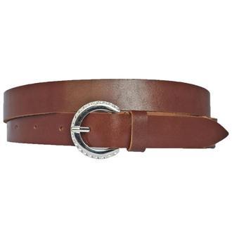 Olivia2 женский кожаный узкий ремень коричневого цвета пояс кожанный
