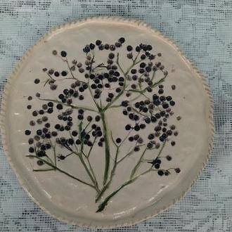 Глиняная тарель (Бузина)