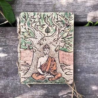 Блокнот  Будда. Пирография.